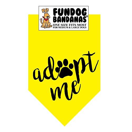 FunDog Bandanas Adopt Me Neon Dog Bandana … (One Size Fits Most for Medium to Large Dogs, Neon Yellow)
