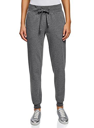 oodji Ultra Women's Jersey Active Pants, Grey, 10 - Organic Jersey Pant