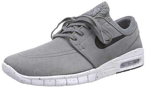 low priced fcf4c 870d9 Galleon - NIKE Men s Stefan Janoski Max L Cool Grey Black White Skate Shoe  10 Men US