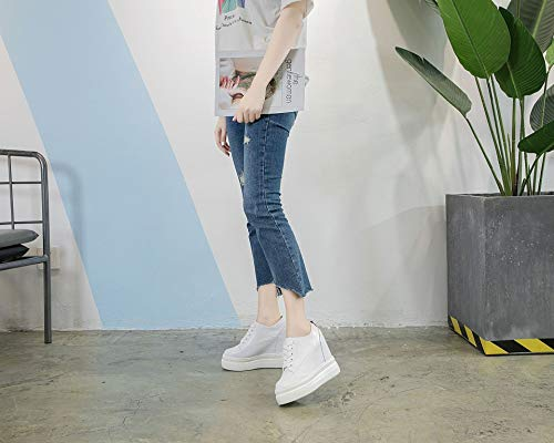 Increased Leather Thirty Women'S Nine Casual Shoes KPHY Autumn Wild White UgZxS