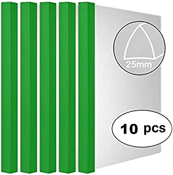 Clear Report Covers,Folders Organizer Binder For A4 Size Paper,5 Color 10 Pcs