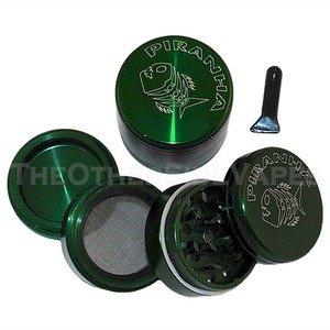 1.5″ Piranha 4 Piece Herb Grinder – Green, Health Care Stuffs