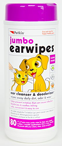 Petkin Jumbo Ear Wipes for Cats & Dogs by Petkin