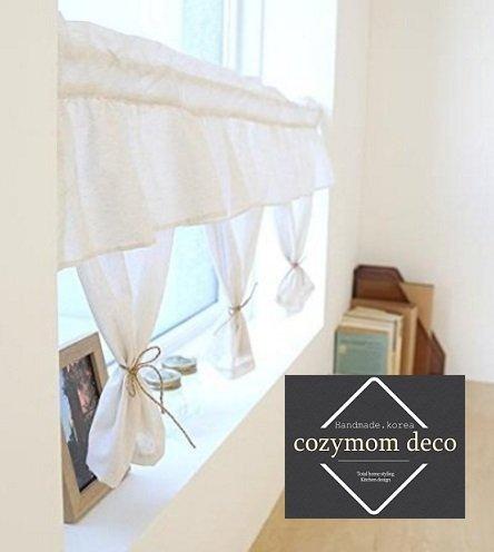 Handgefertigt Natürliche Baumwolle Cafe Gardine, Küche Volants, europäische  ländlichen Fashion Fenster Vorhang für Home, einem Stück 50 (W) X110 (L) ...