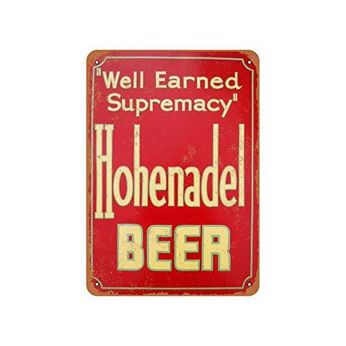Funny Metal Sign Hohenadel Beer Home Decor Pub Beer Street Cafe Hotel Art Decor 8x12