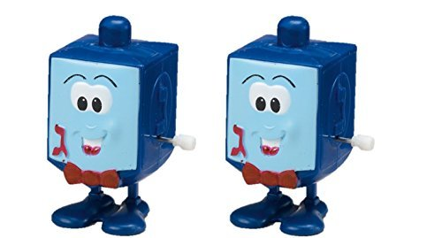 Hanukkah Wind Up Jumping Jack Dreidel 2-Pack by Rite Lite