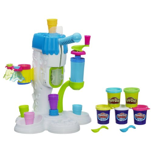 Ice Cream Playset with Cones, Dishes, Spoons & More