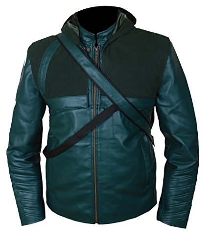 F&H Boy's Arrow Jacket with Quiver & Removable Hood M Green ()