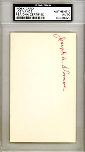 Joe Vance Autographed Signed 3x5 Index Card New York Yankees #83936323 PSA/DNA Certified MLB Cut Signatures