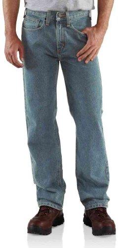 Carhartt Men's Relaxed Straight Denim Five Pocket Jean,Light Vintage Blue,34 x 32