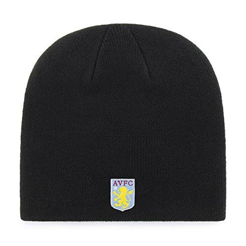 Aston Villa Hat - International Soccer Aston Villa EPL OTS Beanie Knit Cap, Black, One Size
