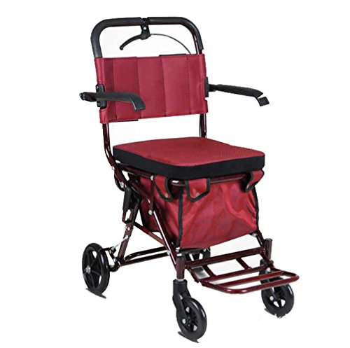 Andador de acero inoxidable rojo Colores Walker plegable con ...