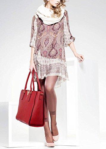 LEESUN LONDON - Bolsa mujer A - Burgundy