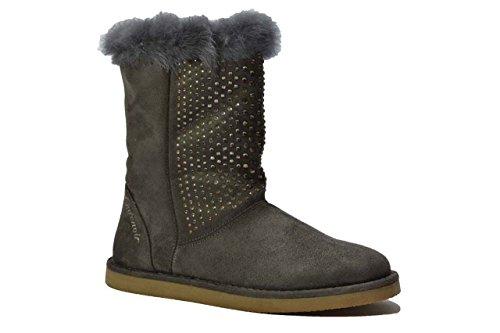 CafÈnoir Stivaletti scarpe donna grigio FF901 TOPO
