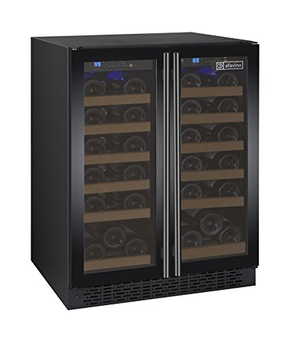Allavino FlexCount VSWR36-2BWFN Black 36 Bottle Dual Zone Wine Cooler with...