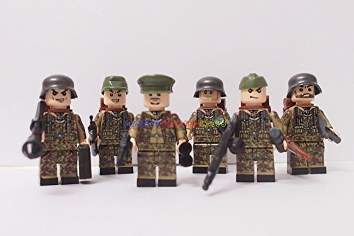 [German Minifigures Waffen SS Soldier Army Camouflage] (Classic Jason Costume)