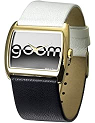 Moog Paris Bi-couleur Womens Watch with Black & White Dial, White & Black Strap in Genuine Leather - M45592-002