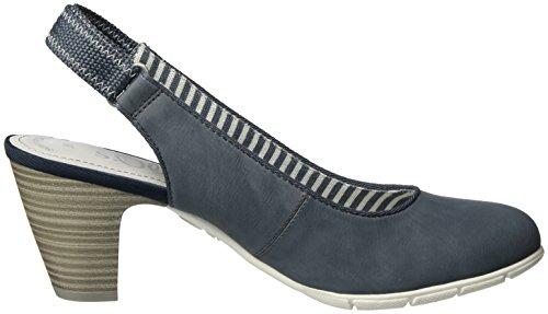 s.Oliver 29501, Zapatos de Talón Abierto para Mujer Azul (DENIM 802)