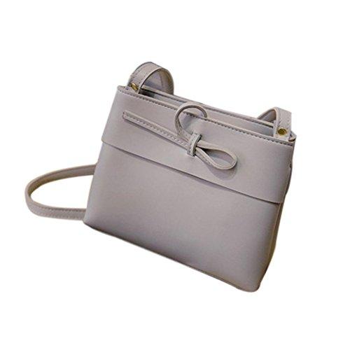 BZLine® Frauen Mini Tasche Shell Form Tasche Frauen Schulter Taschen, 22cm *8cm *18cm (Schwarz) Grau