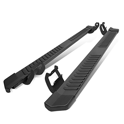 For 15-19 Ford F150/Super Duty Crew Cab Pair Black 6 inches Side Step Nerf Bar Running Boards
