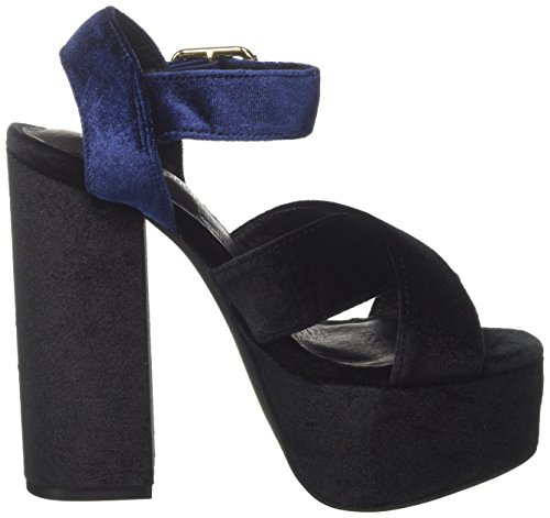 Jeffrey Campbell Women's 16f021 Velvet Sandals Multicolor (Black/Navy) pay with visa sale online new arrival for sale clearance prices exclusive online g5s31YPkYn