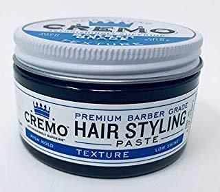 Cremo Hair Styling Barber Grade Texture, High Hold, Low Shine (High Hold Low Shine Mens Hair Product)