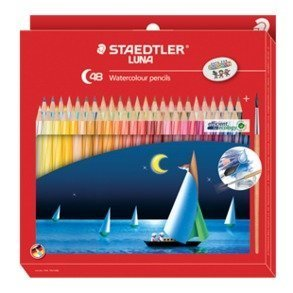 Staedtler Luna Watercolor Pencil 48 Shades, Free Gift!! + by Staedtler
