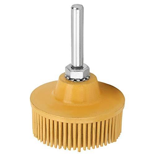 2インチ 剛毛ディスク エメリーゴムの研摩ブラシ 研ぎの車輪 金属の微細仕上げ、洗浄、研磨、研削、バリ取り、錆や傷の除去に適する(黄色80#)