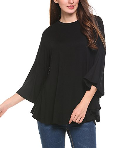 Meaneor Womens Loose Sleeve T shirts