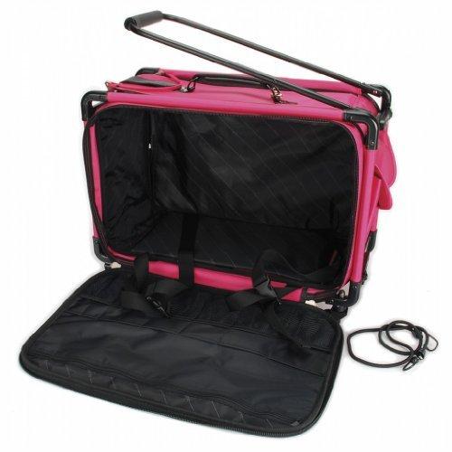 TUTTO Machine On Wheels Case 23″X15″X12″-Pink