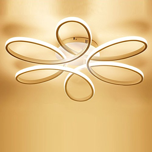 Review LightInTheBox Floral Flush Mount 90W Modern Contemporary LED Chandelier Ceiling Light Fixture Diameter 29.5 Inch for Living Room Bedroom Dining Room Study Room Office Kids Room (Warm White)