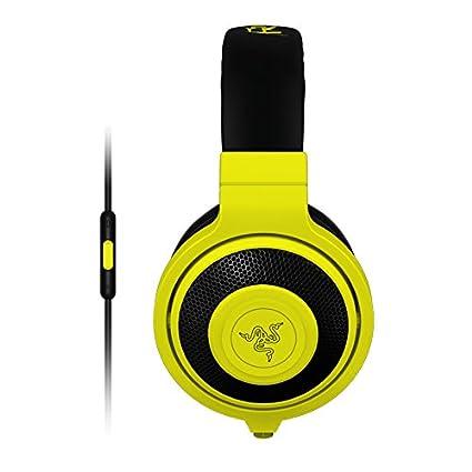 9ebd95c8fae Amazon.com: Razer Kraken Mobile Analog Music & Gaming Headset-Neon Yellow:  Computers & Accessories