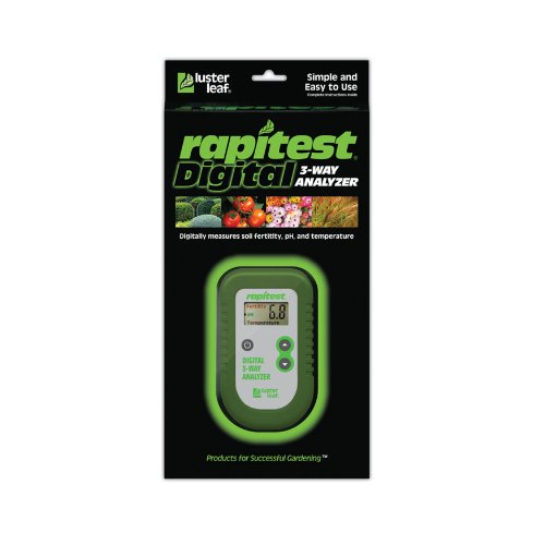 Rapitest 1835 Luster Leaf Digital 3-Way Soil Analyzer - Rapitest Soil Test