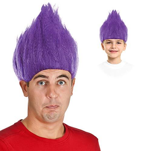 Trolls Costume Purple Troll Doll Costume Troll Wig Purple Troll Hair Wig -