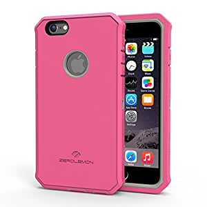 Zerolemon® Apple iPhone 6 Plus 5.5 inch Protector Series Rugged Pink/Grey Hybrid Protection Case, Includes Free High Quality Screen Protector And Belt Clip Holster - Ultimate Protection Form Fitting Case. - [180 Days Warranty]