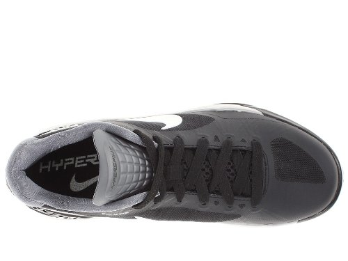 Nike Frauen Volleyball Zoom HyperSpike Volleyball Schuhe Schwarz / Weiß / Metallic Silber