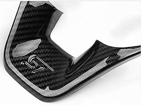 Auto Lenkrad Trim Stlye St For Ford Fiesta Mk8 Abs Carbon Faser Abdeckung Styling 2020 2019 2018 2017 Steuerknopf Rahmen Auto Dekoration Zubehör Küche Haushalt