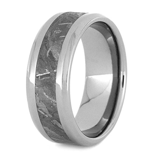 Gibeon Meteorite 8MM Comfort-Fit Titanium Band and Sizing Ring, Size 6 by The Men's Jewelry Store (Unisex Jewelry)