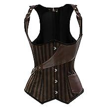 Blidece Bustier Corset Sexy Woman's Bombshell Faux Leather Mesh Dress Lingerie Skirt