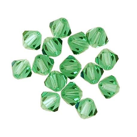 100 pcs 6mm Swarovski 5301 Crystal Bicone Beads, Light Emerald, SW-5301