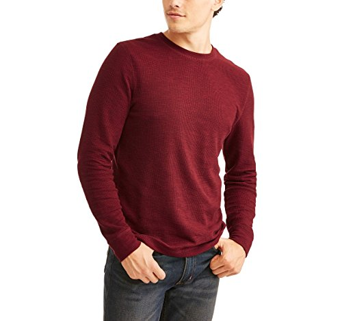 Faded Glory Men's Long Sleeve Waffle Knit Thermal Crew Top/Shirt - Big Sizes (2X-5X) (Merlot Space Dye, 2X) from Faded Glory