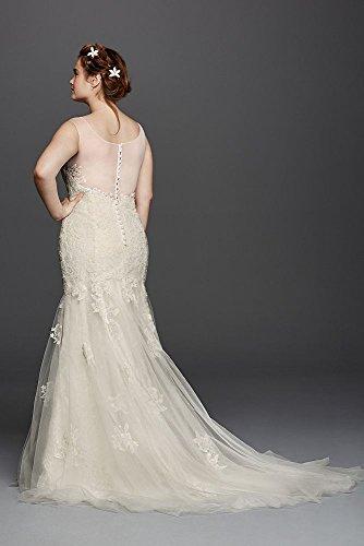 3db8e3d5e575 Plus Size Melissa Sweet Illusion Tank Wedding Dress Style 8MS251150 at  Amazon Women s Clothing store