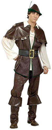 Robin Hood Adult Mens Costumes (Forum Novelties Men's Designer Collection Robin Hood Costume, Brown, Small)