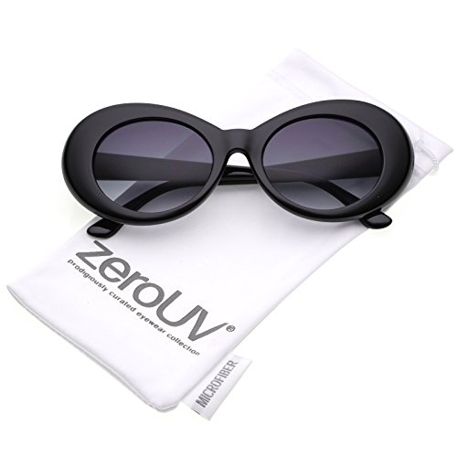4a74c8dc58 zeroUV - Bold Retro Oval Mod Thick Frame Sunglasses Clout Goggles with  Color Tinted Round Lens 51mm - Buy Online in KSA. Apparel products in Saudi  Arabia.