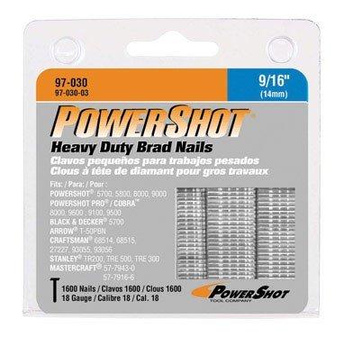 Arrow Fastener 97-030 Genuine PowerShot 9/16-Inch Brad Nails, ()