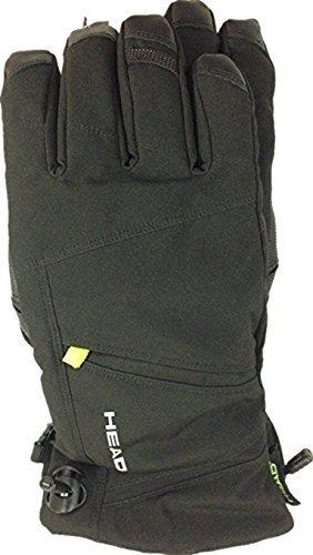 Head Men's DuPont Sorona Insulated Ski Glove With Pocket (Black/Lime, Large)