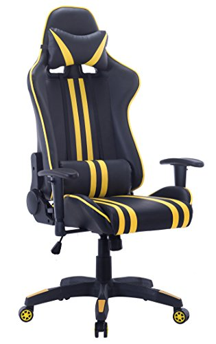 High Back PC Gaming Office All Steel Computer Chair Ergonomic Design Racing Style Premium Leather Lumbar Support Swivel Executive Esports Office Chair
