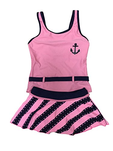 New Arrival Summer Children Kids Two-piece Swimsuit Swimwear Swimdress For Girl