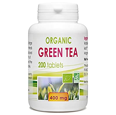 Organic Green tea 200 tablets 400 mg
