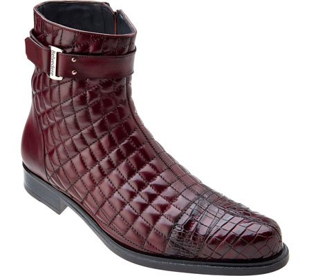 e9dbddd8678 Belvedere Men's Libero Quilted Caiman Ankle Boot
